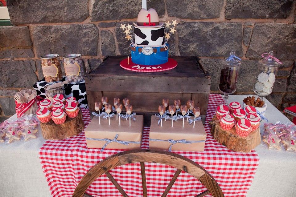 A Wild Wild West Wonderland A Bootscootin Cowboy 1st Birthday By