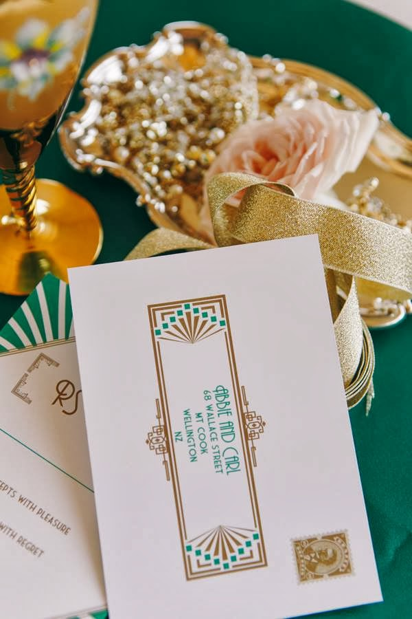 Strange 1920S Wedding Inspiration With Emerald And Gold Tones By The Download Free Architecture Designs Embacsunscenecom