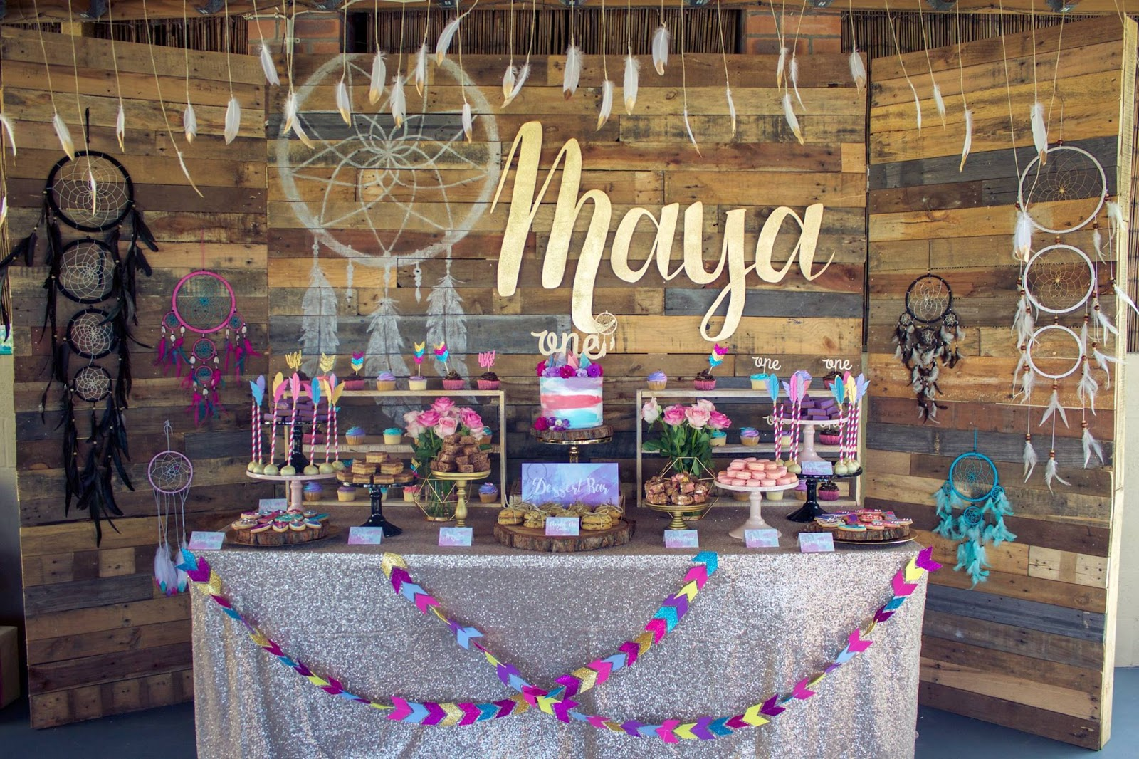 Mayas Boho Themed 1st Birthday By Rebecca King