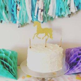 Unicorn Cake topper by Merc and Jones
