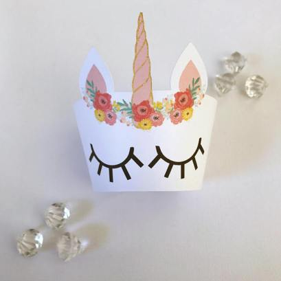Unicorn Cupcake holders by Glitter and Glue Designs