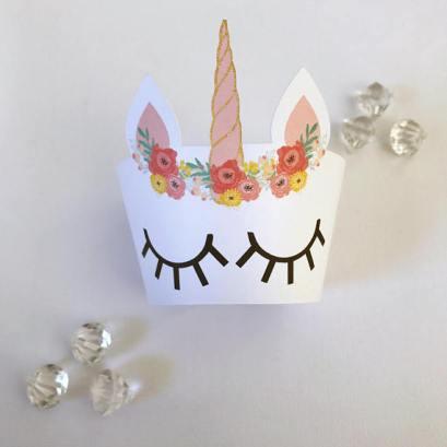 Unicorn Cupcake holders by Glitter and Glue Designs
