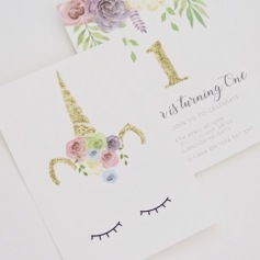 Unicorn Invitation by Emma Smith Stationery